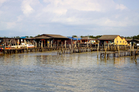 An island on stilts