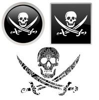 Pirate Skull Botton