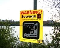 Sewage Warning Sign