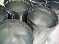 shiny metal buckets