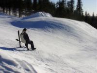 skier relaxing