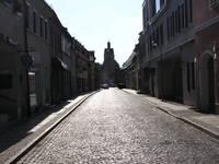 A dawn on an old street