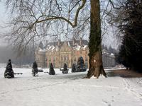 Chateau d'Esclimont under the snow 9