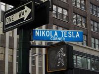 Nikola Tesla corner in Ney Yor