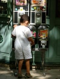 Little boy at a vending machine 4
