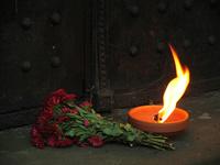 Flame. Powazki Cemetry. Warsaw