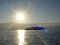 sunset at Paraty