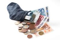 Money in sock - euro