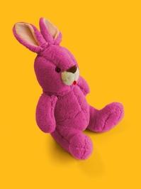 Conejo rosa gordo