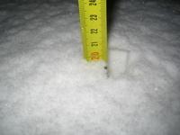 20 cm of snow