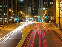 chicago night traffic