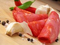 Sliced chorizo (Spanish sausag