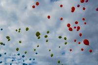 Balloons in sky