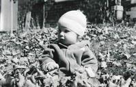 baby in leaves 2