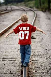Boy on Track - balancing
