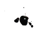 Balsamico liquid spots on white photo file