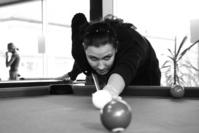 Girl playing pool 1