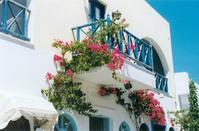 Beautiful balcony in Santorini