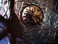 Inside the glass vase