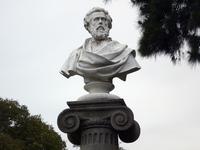 Bust in column