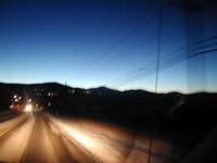 Colorado Road at Night w/ Ligh