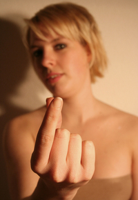 blur hand girl