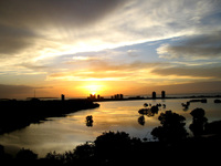 Sunset lagoa da Jansen
