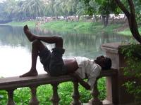 Afternoon siesta in Calcutta