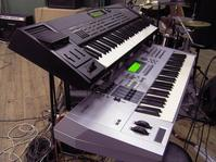 Keyboards on stage