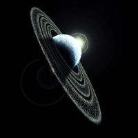 Ringed planet sunrise