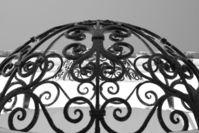 rod iron window covering