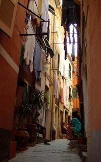a street in cinque terra, ital