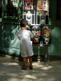 Little boy at a vending machine 2