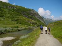Backpackers in Norway