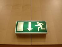 Exit stage trapdoor