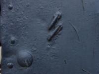 Steel gate, close up
