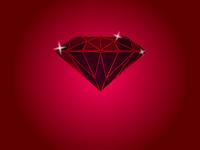 Red jewel vector