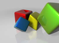 Colored cubes 1