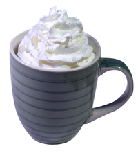 Mug with whipped cream