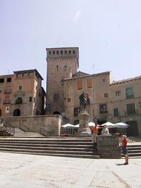 Old building in Segovia city