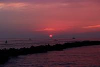 Pink Sunrise over Ocean