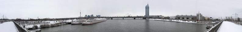 Danube panorama from Vienna