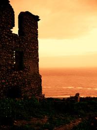 sunset on ruins