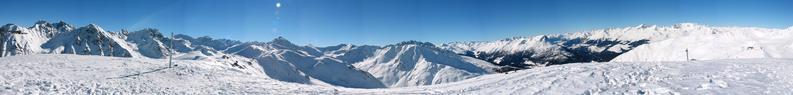 Large mountain panorama
