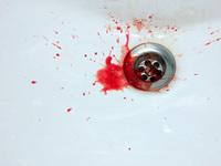 Blood down the drain