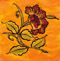 Flower in Orange