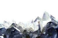 Backlit quartz form tequizquiapan, Queretaro, Mx