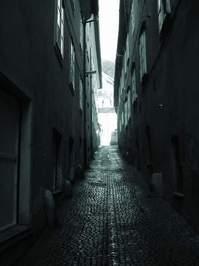 dark street in Slovenia