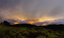Atomic sky over Ibiza