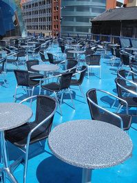 empty terrazzo
